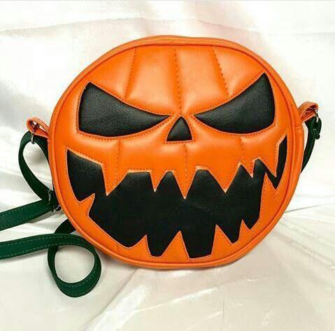 Jack O lantern purse.