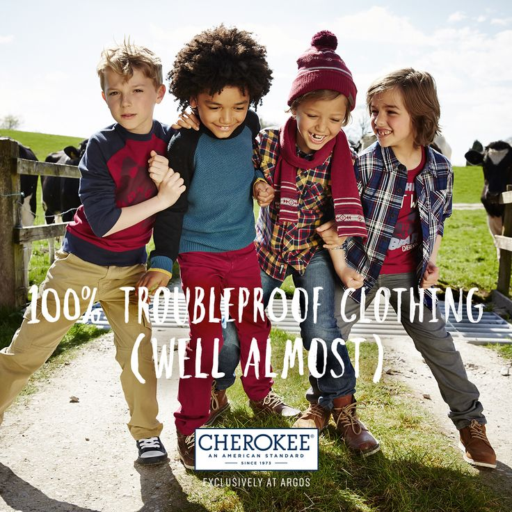 Let him explore the great outdoors with the Cherokee clothing range for boys.