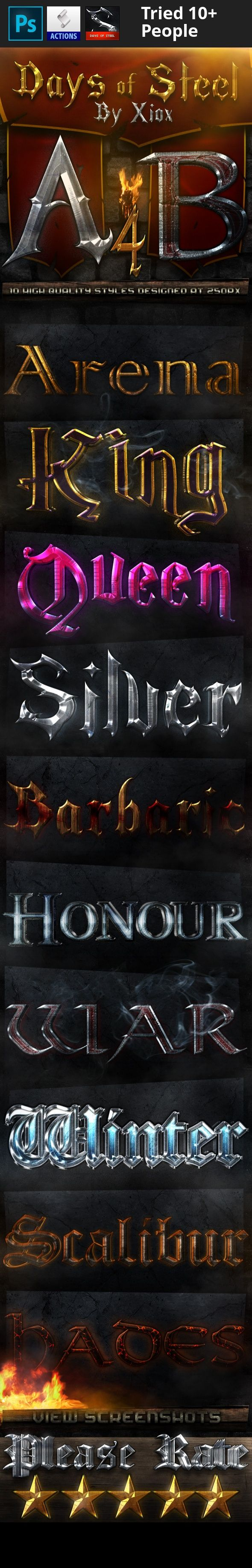 """ancient, arena, barbaric, days of steel, devin hansen, hades, honour, king, medieval, metal, old, queen, scalibur, silver, steel, war, winter, xiox 10 styles based on ancient and medieval history and myth. This pack is the fourth part of a series in which you will see up to 60 different styles and at least 6 different banners. MAKE SURE TO SEE THE SCREENSHOTS for more information on what you get. Comes with: An ASL file with each style depicted. The banner shown in """"Screenshots""""..."""