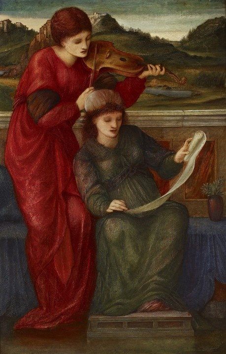 Music by Sir Edward Burne-Jones. Ashmolean Museum.