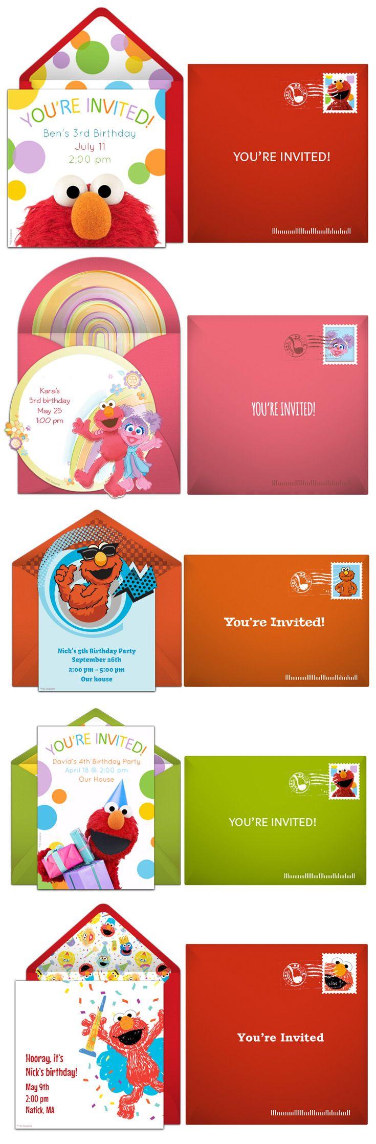 109 best Sesame Street Birthday images – Punchbowl Birthday Invitations