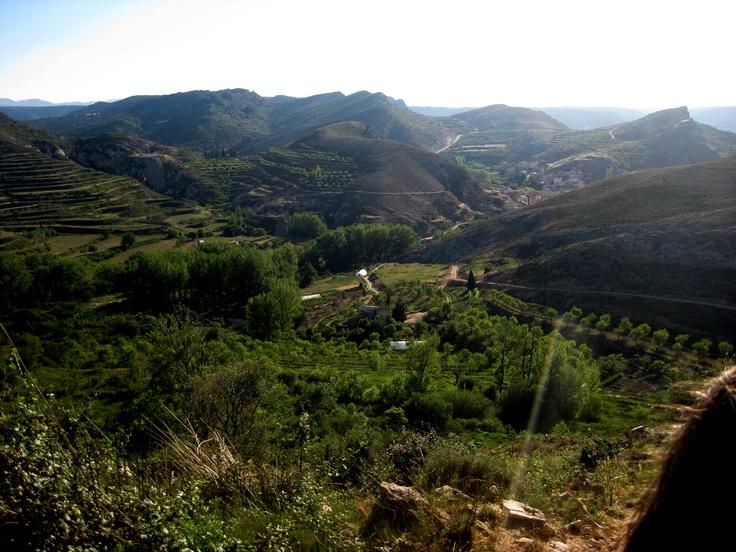 """Vista aerea de Molinos desde la """"Fuente del Fontanal"""". Agua de manantial. by Miguel Ferrer."""