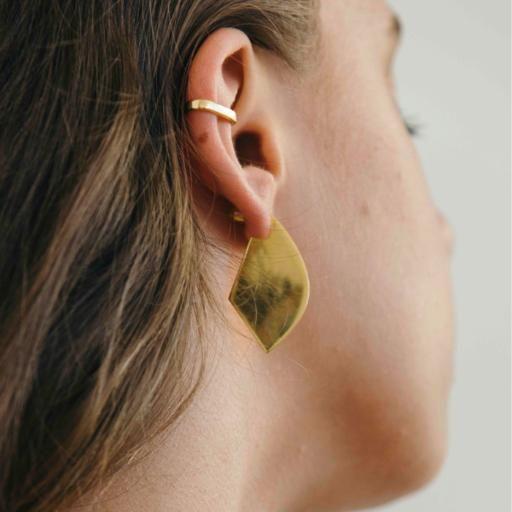 Shield Earrings   SM - Gold - Flash Jewellery
