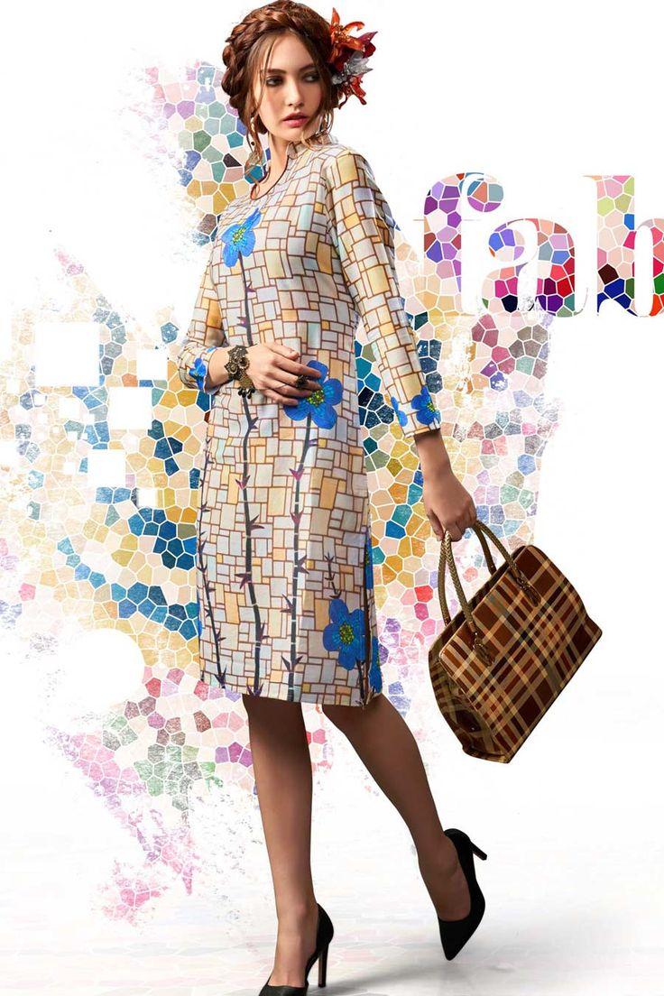 MultiColor Cotton Stitched Designer Kurti without Legging