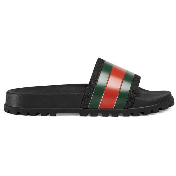 1ea46011857 Gucci Web Slide Sandal ( 190) ❤ liked on Polyvore featuring men s fashion