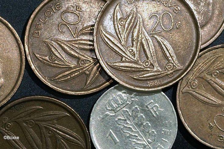 Pièces de 1 et de 20 francs belges