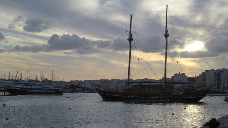 Silema , Malta as the sunsets