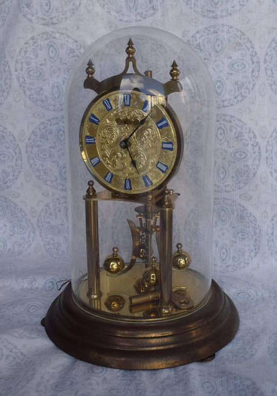 Vintage Welby Kieninger And Obergfell Anniversary Clock Anniversary Clock Clock Antique Clocks