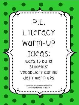 P.E. Literacy Warm-Up Ideas