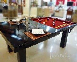 Mesa Versatile Tradicional - Mesa de Sinuca e Jantar Integradas