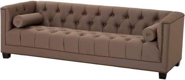 Серо-коричневый диван Eichholtz Sofa Davidoff