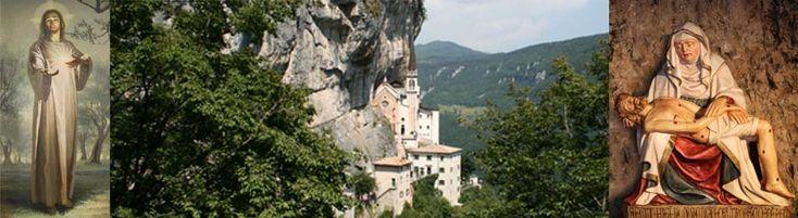 """Der Wallfahrtsort Madonna della Corona in Spiazzi. Das Marianische Heiligtum, genannt """"della Corona"""" ist mit Sicherheit das bemerkenswerteste der Diözese Verona"""