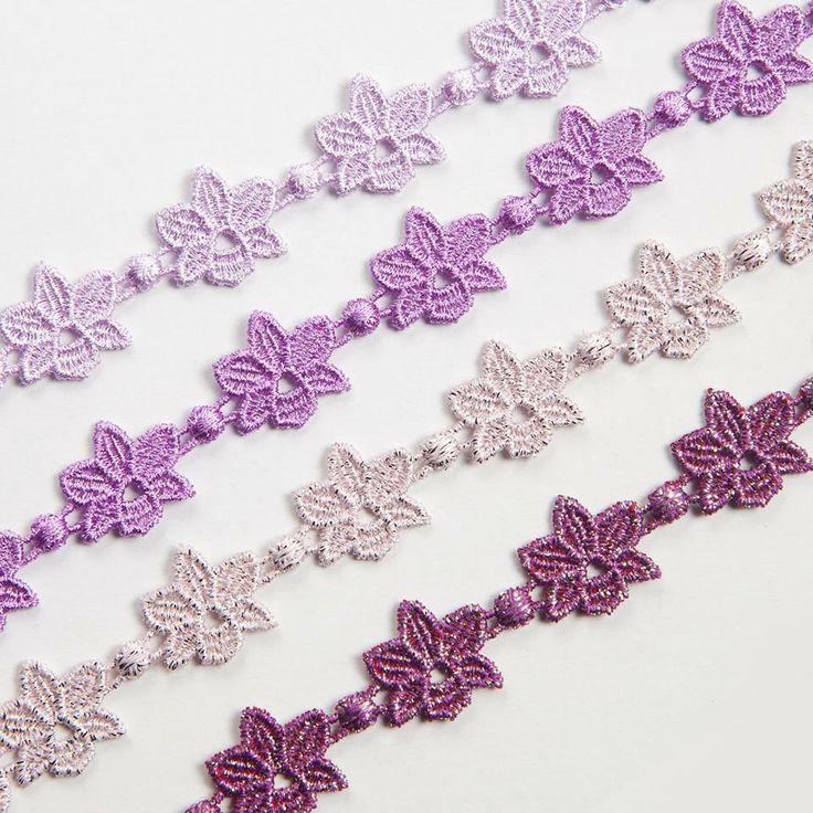 Cruciani Orchid bracelets (shades of purple)