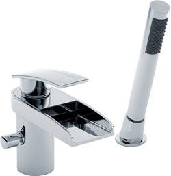 Hudson Reed Rhyme 2 Hole Waterfall Bath Shower Mixer Tap Free Kit