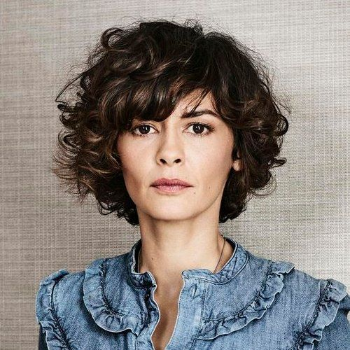Curly bob with bangs. audrey tautou.