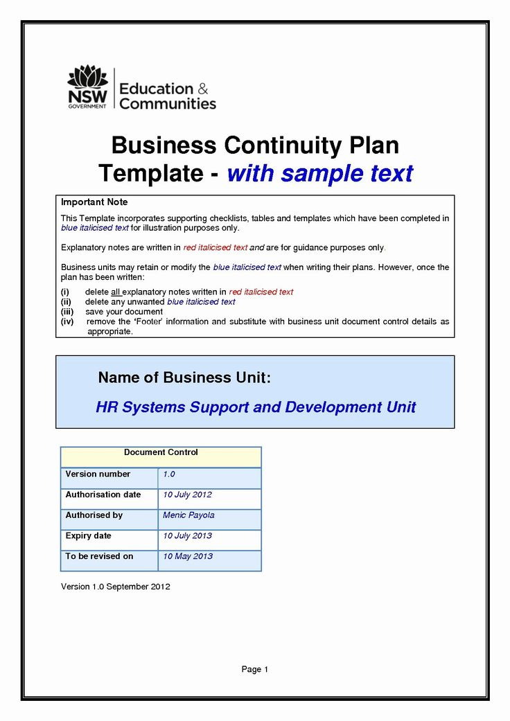 30 Technology Business Plan Template in 2020 Business