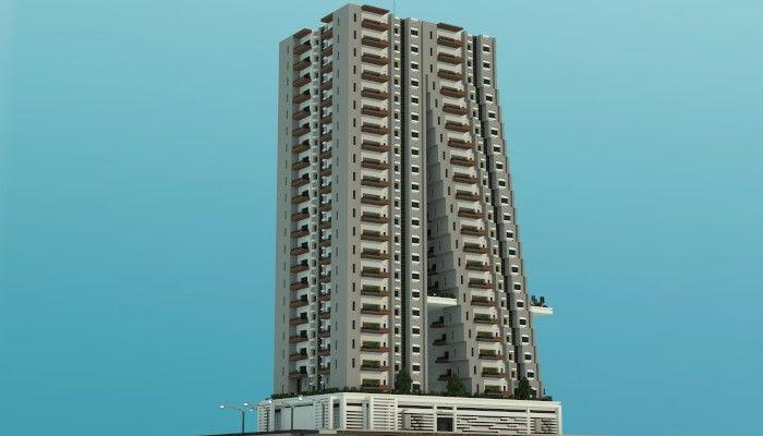 Tilt A Modern Apartment Building minecraft building ideas ...