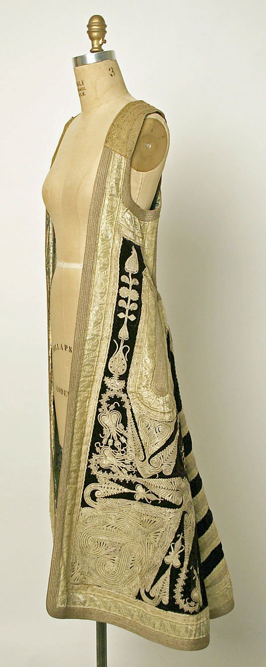 19th Century Coat Culture: Turkish Medium: silk, metallic