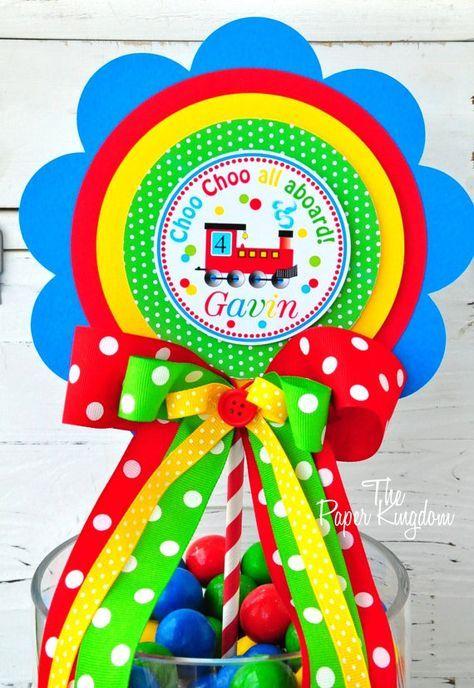 Toppers Choo Choo tren Cupcake juego de 12 por thepaperkingdom