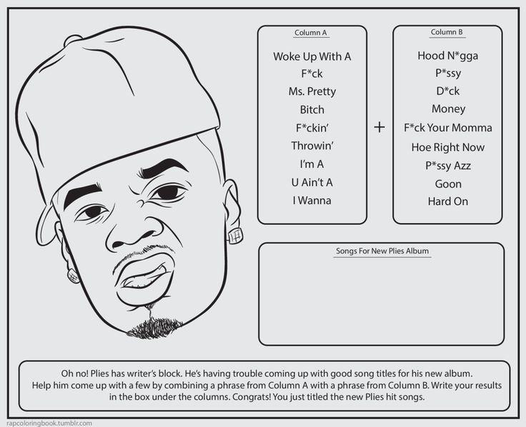 Bun Bs Jumbo Coloring And Rap Activity Tumblr Photo