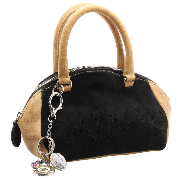 Anastasio Moda New Orleans Saints NFL Angeleigh Handbag - Black