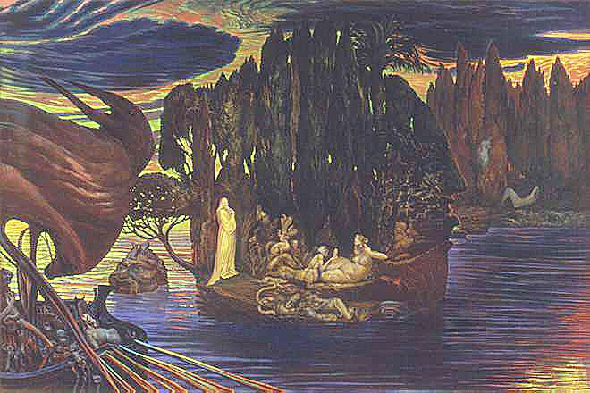 Ernst fuchs - The Philosopher on the Isle of the Dead