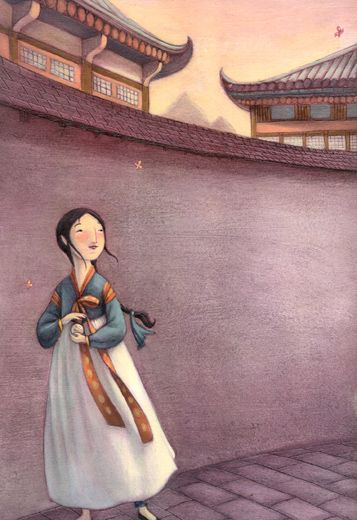 Kelly Murphy | SeeSaw Girl (2009) Korean American book about ancient korean traditions