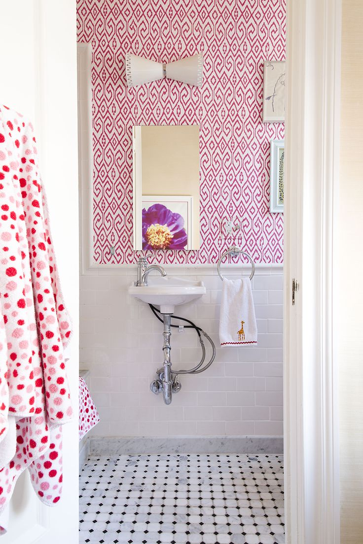 White And Pink Bathrooms   Transitional   Bathroom   Lilly Bunn Interior