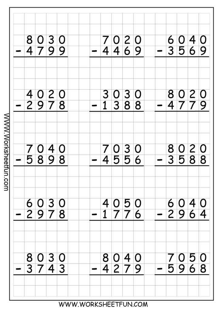131 best Math Printables images on Pinterest School, Education - subtraction frenzy worksheets