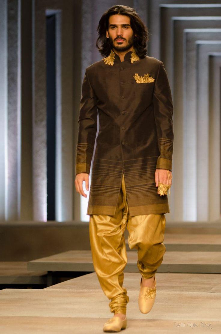 Soma Sengupta Indian Men's Fashion- The Perfect Gold Groom!