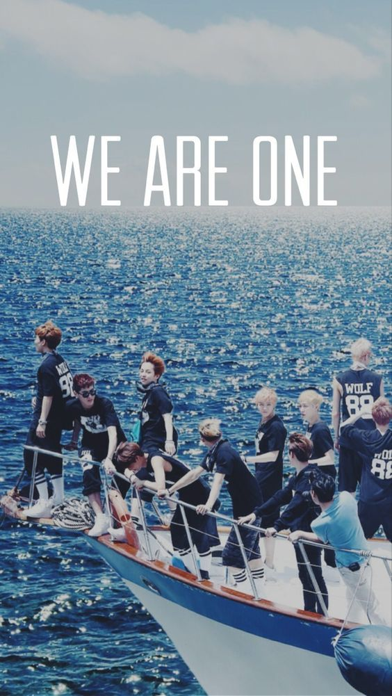 """EXO: XOXO """"We Are One"""" HD Wallpaper:"""