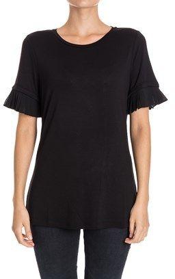 Michael By Michael Kors Women's Black Viscose T-shirt.