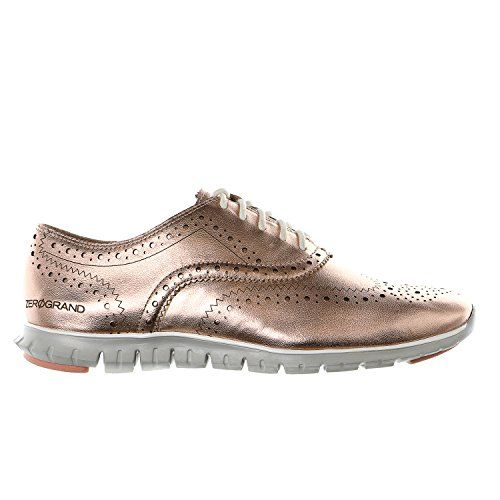 Cole Haan Zerogrand Wing Oxford Casual Fashion Sneaker - Rose Gold Metallic  - Womens - 7