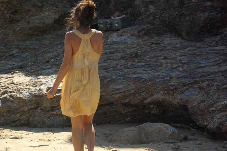 eco plant dyed summer dress 'summer mistress' by colourclothclay on Etsy