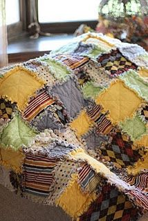 diy rag quilt...love the raggedy hemming