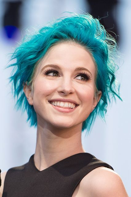 2014's Best Celeb Hair-Color Makeovers #refinery29  http://www.refinery29.com/best-celebrity-hair-color#slide14  Hayley Williams After She recently ditched the two-toned look for all-over blue, which is one of the prettiest under-the-sea shades we've ever seen.
