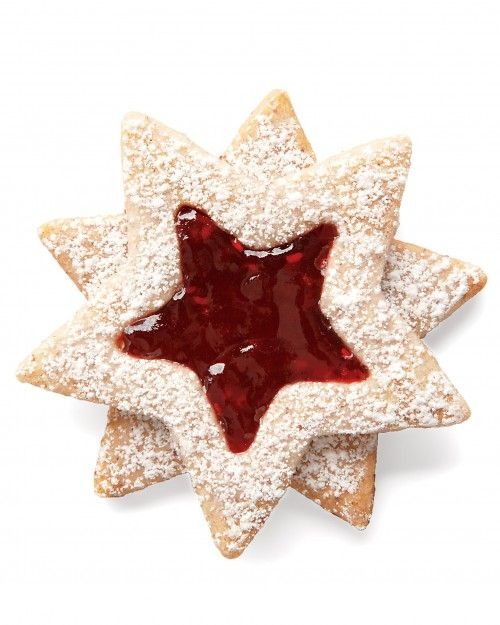 Linzer Star Cookies for Christmas