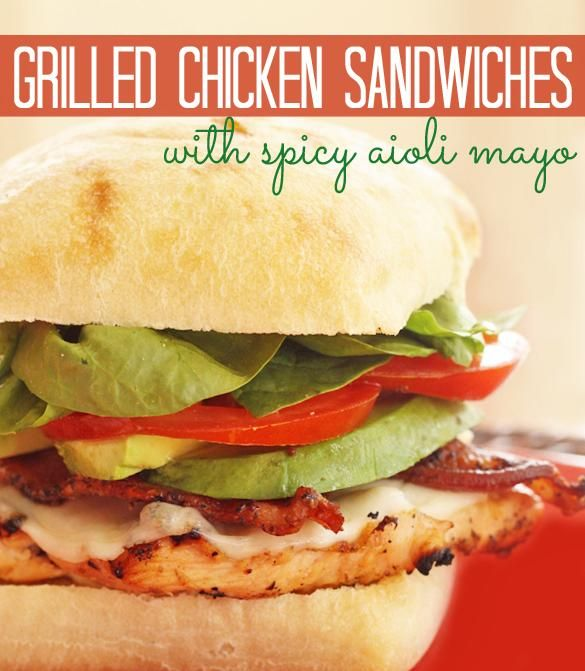Grilled Chicken Sandwiches with Spicy Aioli Mayo