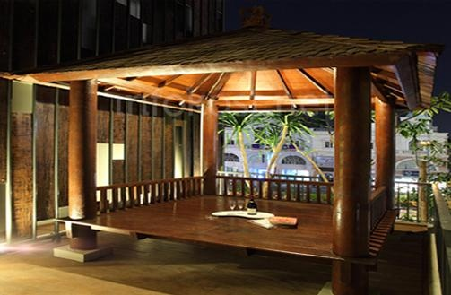 Tendean Residences gazebo.