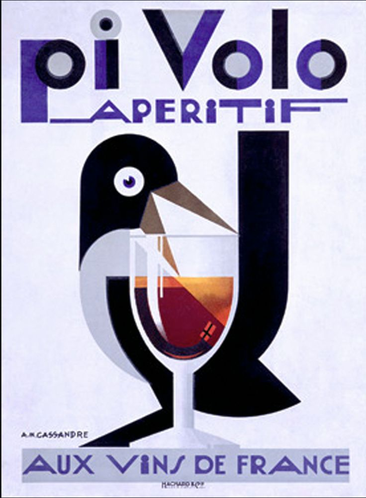 "PG242 ""Pivolo Aperitif"" Poster by Adolphe Mouron Cassandre (1920)"