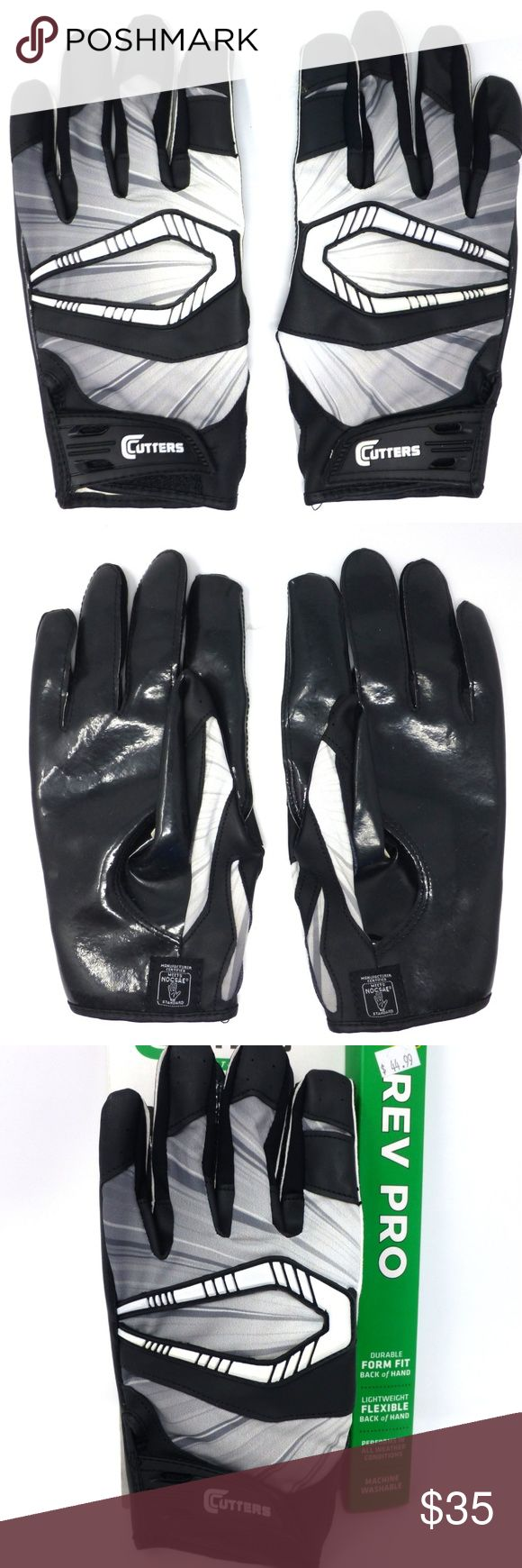 Cutters Rev Pro Receiver adult football gloves NWT Superior grip & protection in all weather conditions Machine wash Cutters Accessories Gloves