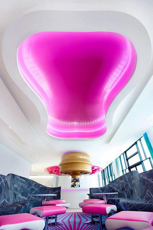 The NHow Hotel in Berlin design by Karim Rashid interior.