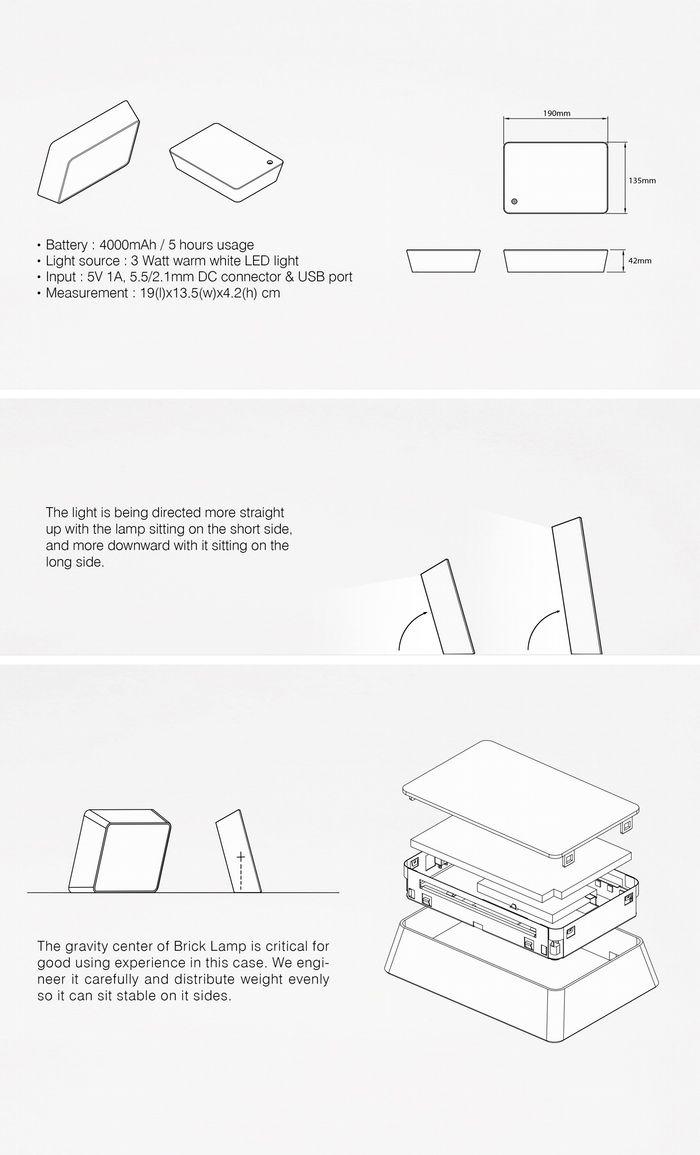 Led night light kickstarter - Brick Lamp Reveal The Light By Hcwdstudio Kickstarter