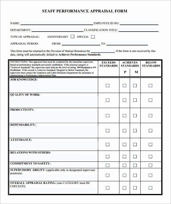 Employee Performance Evaluation Template Elegant Employee Evaluation Form Sample 13 Free Employee Performance Review Evaluation Employee Performance Reviews