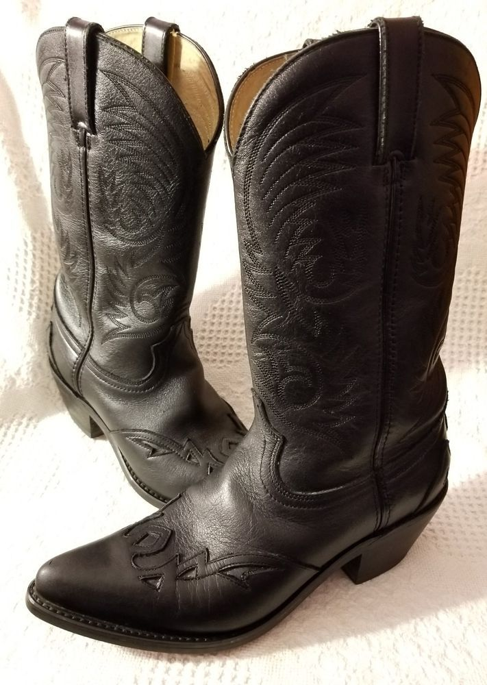 Durango cowboy boot 8 M RD5300 wingtip toe black leather country western cowgirl #Durango #CowboyWestern