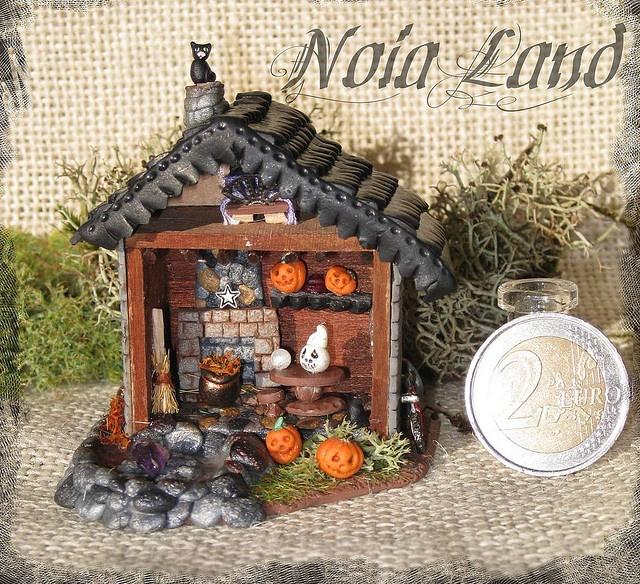 halloween miniature house - Miniature Halloween Decorations