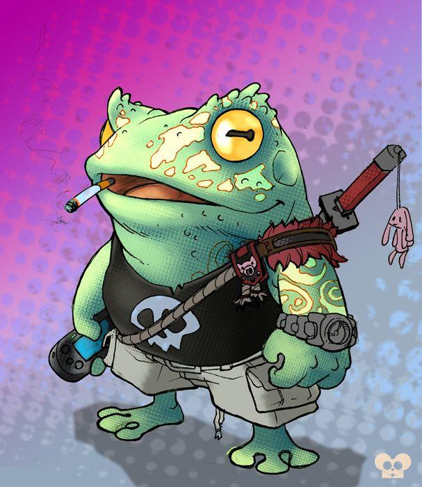 Frog by OGmouse.deviantart.com on @deviantART