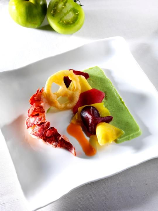 Marc Meneau partage sa recette de homard tomate verte