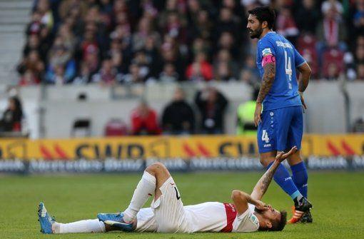 VfB-Stürmer Martin Harnik hat sich gegen Darmstadt am Knie verletzt. Foto: Baumann http://www.stuttgarter-zeitung.de/inhalt.vfb-stuttgart-martin-harnik-faellt-bis-jahresende-aus.3539a032-a08a-481f-aa8f-781c71de91d8.html