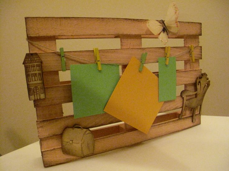 Mini pallet as a message board http://ladiy.cafeblog.hu/ #diy #pallet #decoration #decor